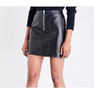 {Sandro Paris} Ray Leather Mini Skirt NWT